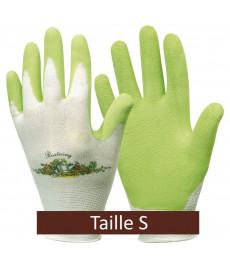 Gants de jardinage vert anis - taille S