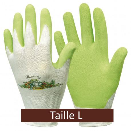 Gants de jardinage vert anis - Taille L