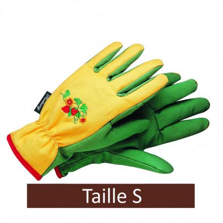 Gants de jardinage en coton pour femme taille S