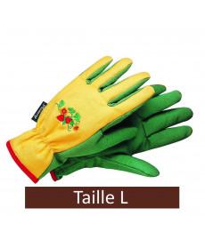 Gants de jardinage en coton pour femme taille L