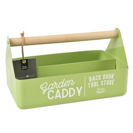 Boite de rangement outils de jardin coloris vert pomme