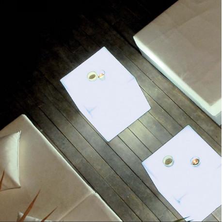 Cube lumineux blanc