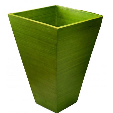 Cache pot en bambou vert
