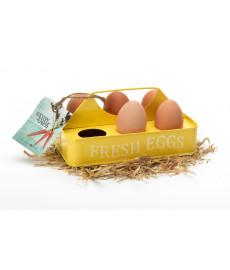 Boite à œufs déco en métal