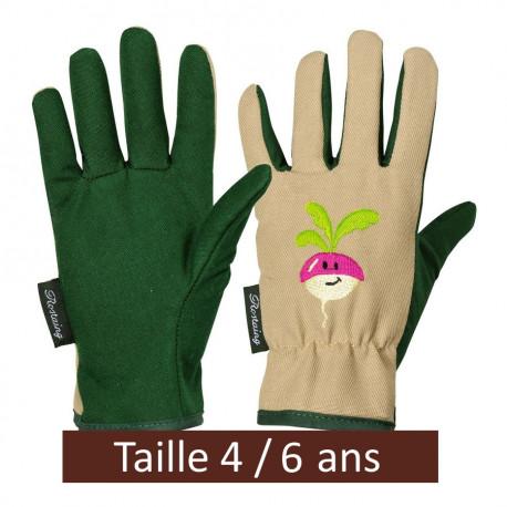 "Gants de jardinage enfant ""Radis"" 4/6 ans"