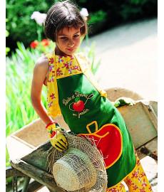 """Tablier de jardin pour enfant """"Patate et Pomme"""""""