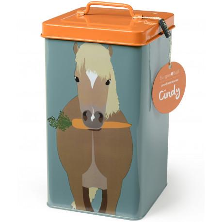Boite conservation nourriture pour poneys et chevaux
